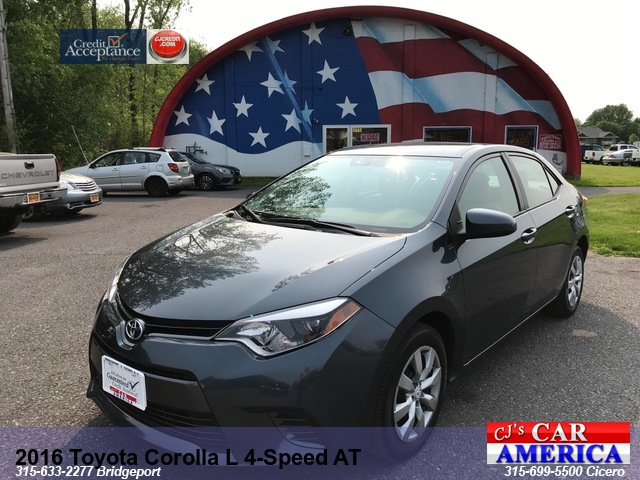 2016 Toyota Corolla L 4-Speed AT*** BRIDGEPORT SALE PRICED $13,995***