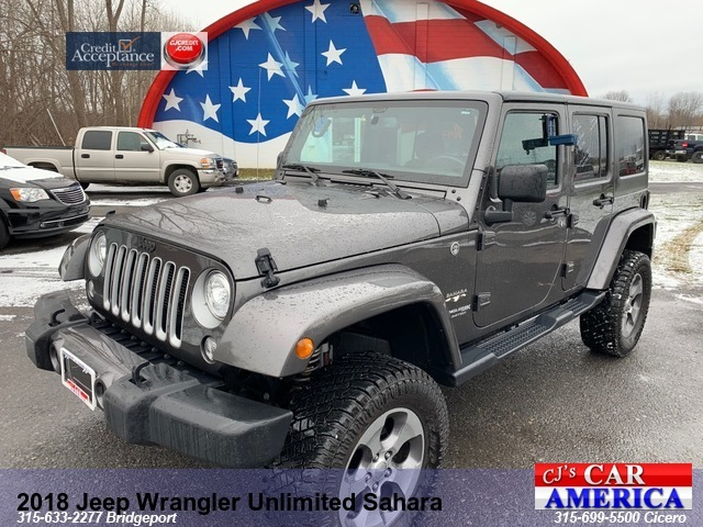 2018 Jeep Wrangler Unlimited Sahara *** CICERO PRICE REDUCED $30,495***