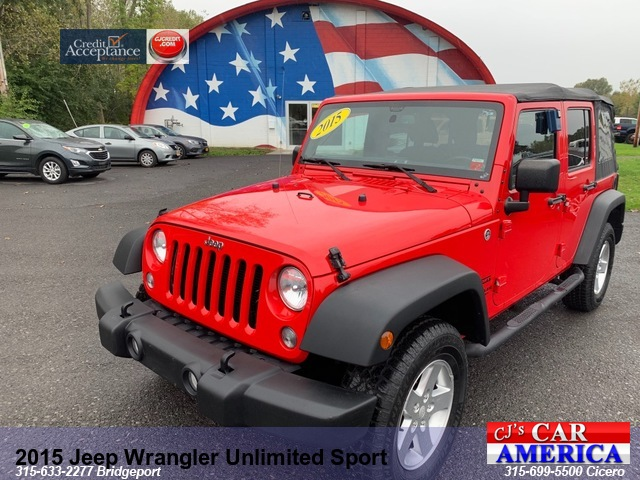 2015 Jeep Wrangler Unlimited Sport *** CICERO SALE PRICED $21,995***
